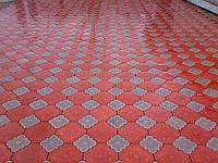 Тротуарная плитка «Гжель» Красный