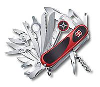 Нож швейцарский Victorinox Delemont EvoGrip S54 красный с черным