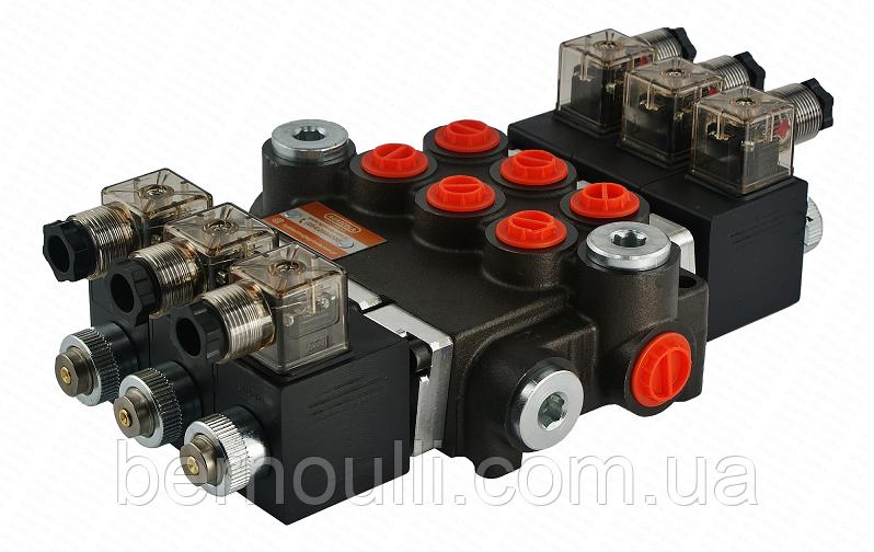 Гідророзподільник (Гідророзподільник) 3 секції Z80 літрів 12V Badestnost