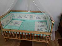 Бортики, бампер в кроватку детскую-№ 142 Мишки игрушки