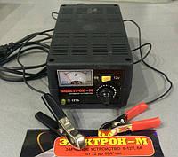 Зарядное устройство Электрон-М 6А/6-12V/Стрелка/Регул.Силы тока/пластик