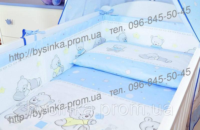 Бортики, бампер в кроватку детскую-№ 143-Мишки игрушки