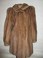 Шуба норковая,норка натуральный мех ,цельная ,цвет пастель saga mink 50-54р