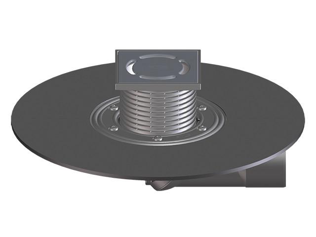 Трап для внутренних помещений Hutterer & Lechner с гидроизоляционным полимербитумным полотном DN50/75 HL80.1H