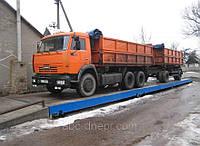 Весы автомобильные 80 тонн 18 метров с железобетонной платформой