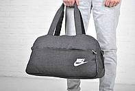 Спортивная сумка найк (Nike) для путешествий, серая реплика