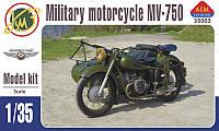 Мотоцикл МВ-750 с коляской 1/35 AIM 35003