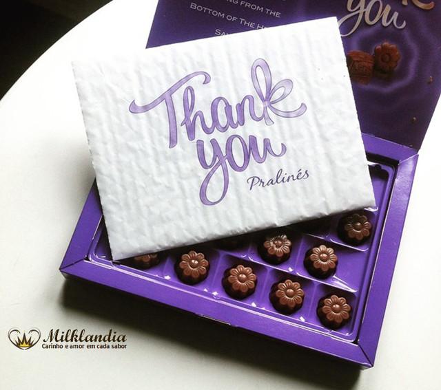 Шоколадные конфеты Milka Thank You купить в Киеве, Одессе, Мариуполе, Волновахе, Луцке по лучшей цене - 95 грн