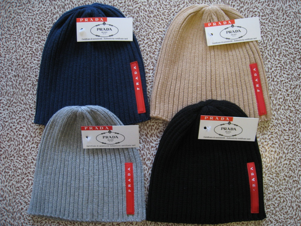 Разные цвета PRADA шапки вязаные для взрослых и подростков шапка хлопок прада.