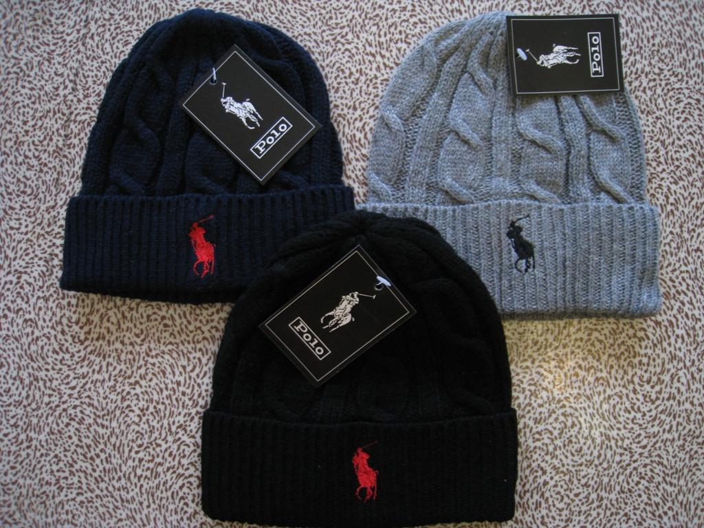 Стильные вязаные шапки RALPH LAUREN для взрослых и подростков хлопок шапка ралф лорен.