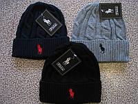 Стильные вязаные шапки RALPH LAUREN для взрослых и подростков хлопок шапка ралф лорен., фото 1