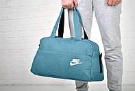 Сумка найк спортивная (Nike), для путешествий голубая