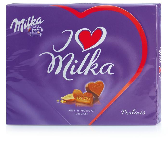 Шоколадные конфеты в коробке I love Milka, 120 гр