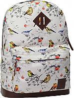 Оригинальный легкий повседневный рюкзак 17 л. Bagland Молодежный, 005336640-b (Птицы)