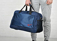 Сумка спортивная найк (Nike), для путешествия и спорта, синяя