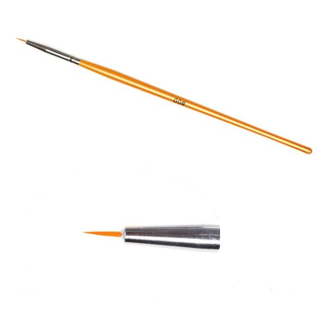 Кисть для рисования № 00, золотистая ручка