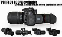 Видоискатель для цифровых камер PRO Foldable Viewfinder 3X LCD, фото 1