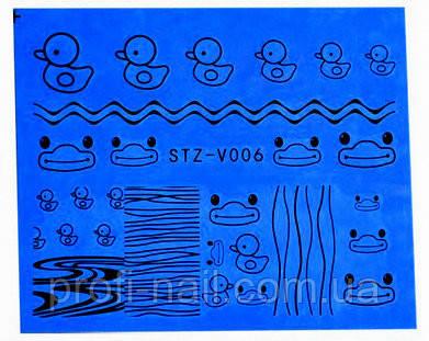 Водные наклейки для ногтей STZ-V006