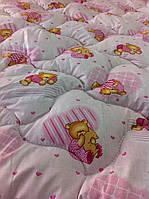 Ковдра дитяча шерстяна голд 110*140 бавовна (2899) TM KRISPOL Україна