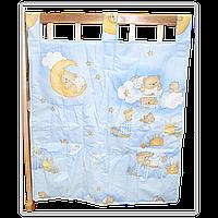 """Карман (приборник) для детской кроватки """"Мишка на лестнице"""", 60х65 см, 100% хлопок"""