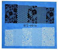 Водные наклейки для ногтей STZ-V016
