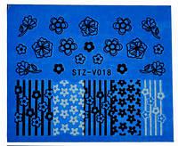 Водные наклейки для ногтей STZ-V018