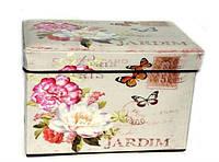 Пуфик складной декоративный Цветы и бабочки 109-7