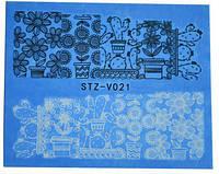 Водные наклейки для ногтей STZ-V021