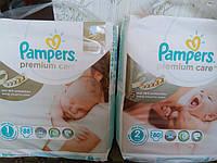 Подгузники Pampers Premium Care New Born 1(2-5 кг) ECONOM PACK 88 шт.