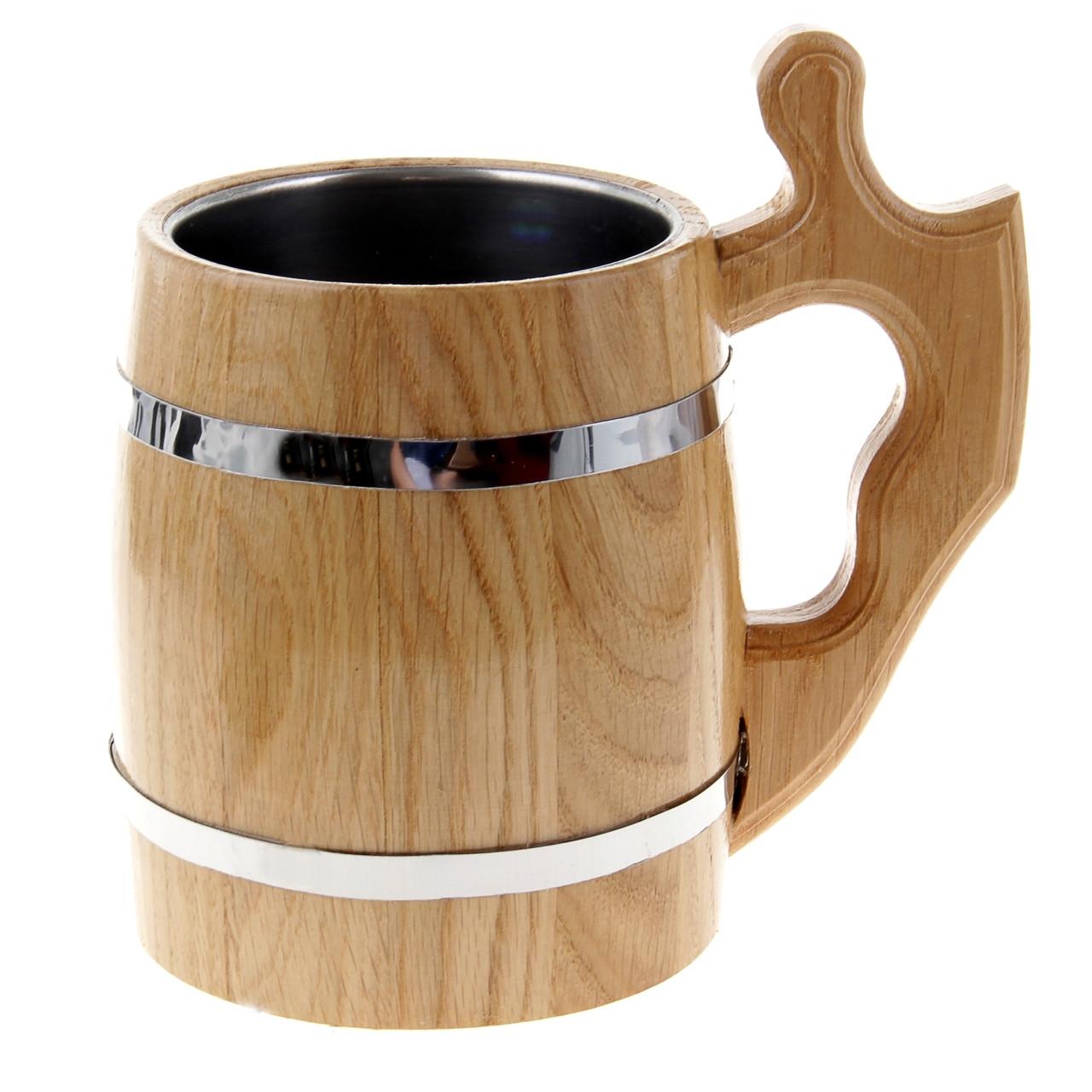 Кружка деревянная,дубовая