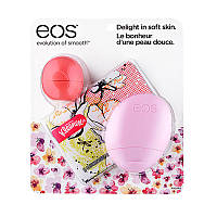 EOS Multi 3-Pack: Sphere(pink grapefruit)+Hand(berry blossom)+Kleenex Wallet - Набор по уходу за телом