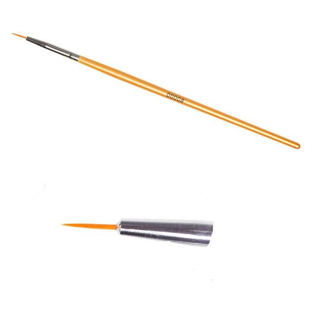Кисть для рисования № 0000, золотистая ручка