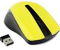 Мышь Gembird MUSW-101-Y беспроводная, Yellow USB