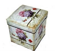 Пуфик складной декоративный Цветы 27-3
