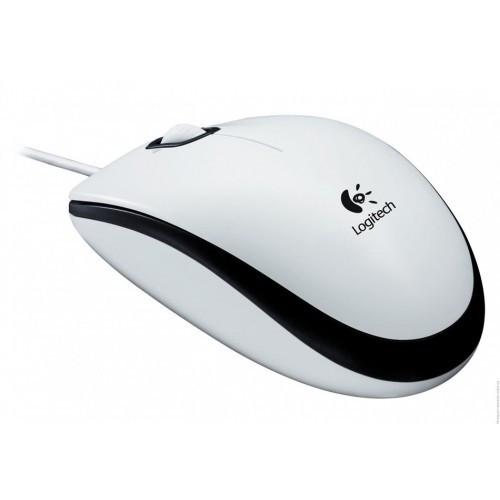 Мышь Logitech M100 белая USB (910-001605), мышка