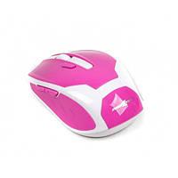 Мышь Maxxtro Mr-317-R беспроводная, USB, бело-розовая