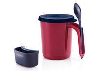 """Кружка """"Иллюмина"""" 350 мл с крышкой, ложкой и аксессуаром для чайных пакетиков"""
