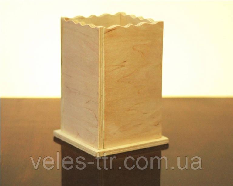 Подставка для кухонных принадлежностей 12.5х12.5х16.5 см фанера заготовка для декора