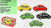 "Машина метал. ""Kinsmart"" ""Volkswagen New Beetle"", в кор. 16*8,5*7,5см (96 шт./4)"