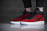 "Кроссовки Nike Air Force 1 Ultra Flyknit High ""Black/Red/White"""
