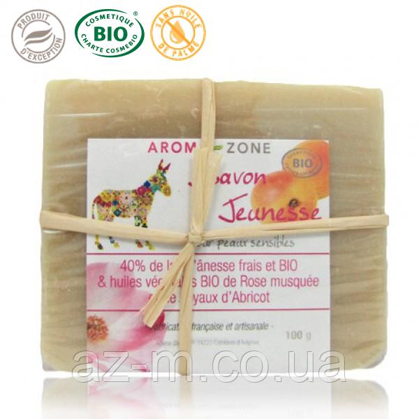 Мыло растительное Молодость с 40% ослиного молока (d'ânesse Jeunesse) BIO, 100 г