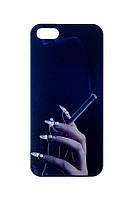 Пластиковый чехол для iphone 5/5s Рука с сигаретой