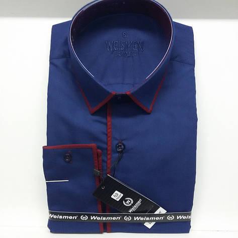 Однотонная мужская рубашка Weismen, фото 2