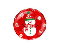 Воздушный шар со снеговиком