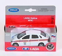 "Машина Welly, ""LADA KALINA МЧС"", метал., в кор. 15*6*6см (36шт)"