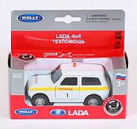 "Машина Welly, ""LADA 4X4"" техпомощь, метал., в кор. 16*7*6см (36шт)"