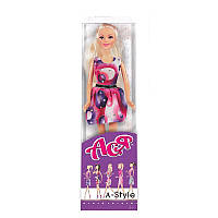 """Кукла Ася шарнирная """"А-Стиль"""", 28 см, блондинка, вариант 3, в кор. 32*8*5см"""