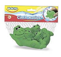 """Пищалка для ванной """"Семья лягушек"""", 9М+, укр. уп., в сетке 25*19см, ТМ BeBe lino"""