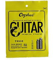 Набор струн для акустической гитары (6шт) Orphee TX630