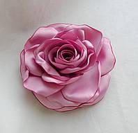"""Брошь из ткани ручной работы """"Роза Розовая Пантера"""""""